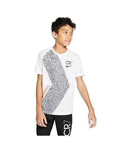 Nike - Fitness-T-Shirts für Jungen in White/Black/Black, Größe XL