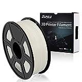 SUNLU PLA Plus 3D Printer Filament - 1KG(335m/1099ft) 1.75mm, Dimensional Accuracy +/- 0.02 mm, 1KG(2.2LBS) Spool 1.75 mm, White (Ivory White)