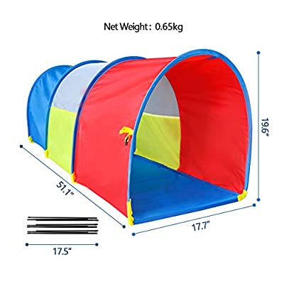 ENHENG Children Play Tunnel-Rainbow Multi-Coloured Toy Tent -Crawling Tube for Kids Sentiment Training - Drilling Toys Baby Indoor & Outdoor (Arch-Small)