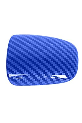 ToolEpic for Dodge Challenger Charger Durango Decal Accessories 2015-2020 - Gear Shift Knob Trim Cover-ABS Plastic with Carbon Fiber Paint Surface, Perfect for Decals – Indigo Blue