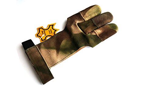 starlingukpkltd Guantes de piel auténtica de calidad para tiro con arco con punta completa. (grande).