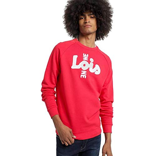 LOIS JEANS - Sudadera para Hombre | Sudadera con Estampado One Logo | algodón | Tallaje en Pulgadas | Talla Inch - 3XL