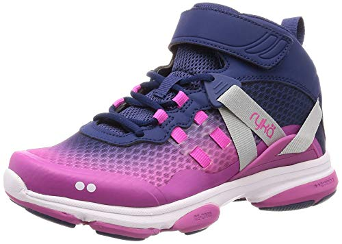 Ryka Women's Devotion XT Mid Cross Trainer, Ink Blue, 8 M US