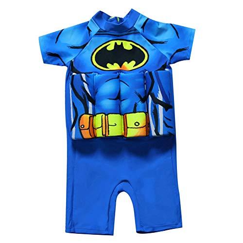 Kinder Jungen Bojen-Badeanzug Cartoon Badeanzug mit Schwimmhilfe Einteiler UPF 50+ UV Schützend