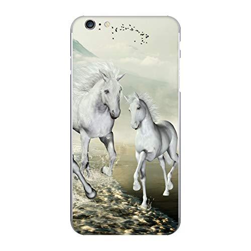 Head Case Designs Ufficiale Simone Gatterwe Bianco sulla Spiaggia Cavalli Luccicante in Vinile Sticker Pelle Adesivo Compatibile con Apple iPhone 6 Plus/iPhone 6s Plus