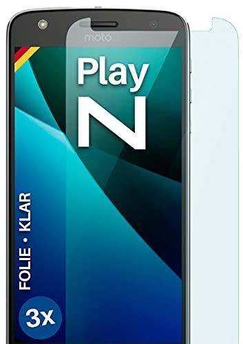 moex [3 Stück] Schutzfolie kompatibel mit Moto Z Play Bildschirmfolie Hüllen-Fre&lich, 0.2 mm dünne Bildschirmschutzfolie, Display Schutz extra Kratzfest - HD Ultra-Klar