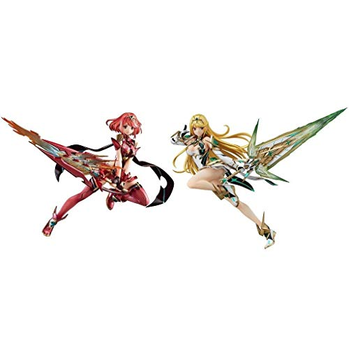 Siyushop Xenoblade Chronicles 2: Pyra PVC Figure - Mythra PVC-Abbildung (2er-Set)