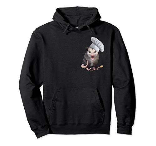 Chef possum - niedliches Opossum in einem Chefhut Pullover Hoodie