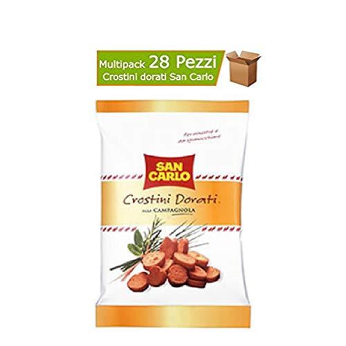 Crostini Dorati San Carlo Gusto Alla Campagnola 28 Confezioni da 75 Grammi Ciascuna