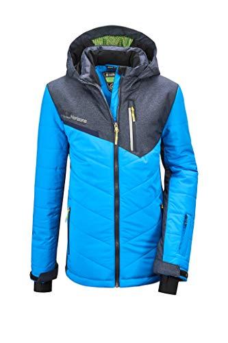 Killtec Jungen Glenshee BYS Quilted Jckt Jacke In Daunenoptik Mit Kapuze Und Schneefang, neon Blue, 164