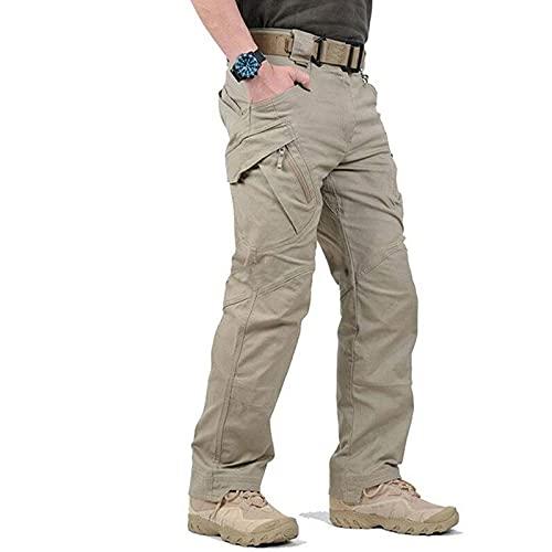 LELEBEAR 2021 Upgraded Tactical Waterproof Pants, Waterproof Military Tactical Cargo Pants, Men Multi Pocket Combat...