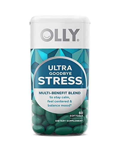 OLLY Ultra Strength Goodbye Stress Softgels, GABA,...