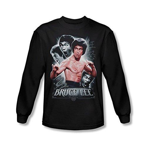 Bruce Lee - - Inner Fury T-Shirt à Manches Longues pour Homme, Large, Black