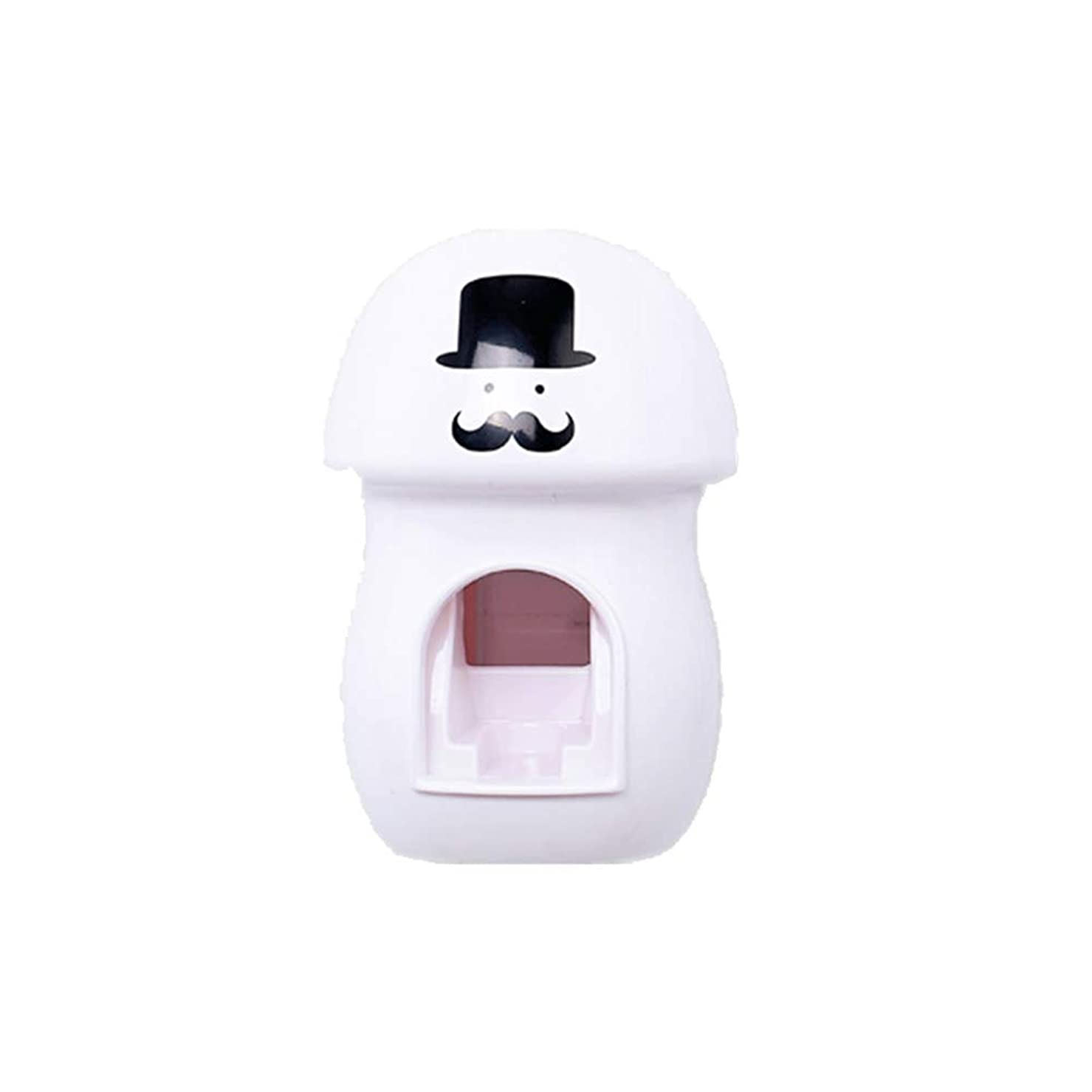 捨てるカップル自分のためにKaddima パンチフリーの自動絞り歯磨き粉デバイス壁掛け漫画歯磨き粉デバイス