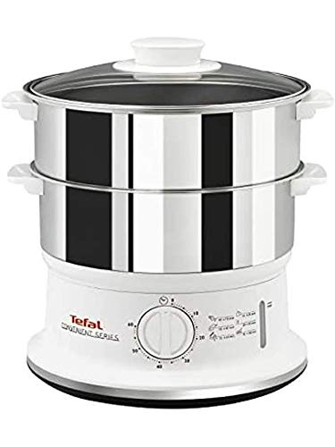 Tefal VC145140 Convenient Series Steamer, 2 Durable Stainless Steel Bowls, Silver