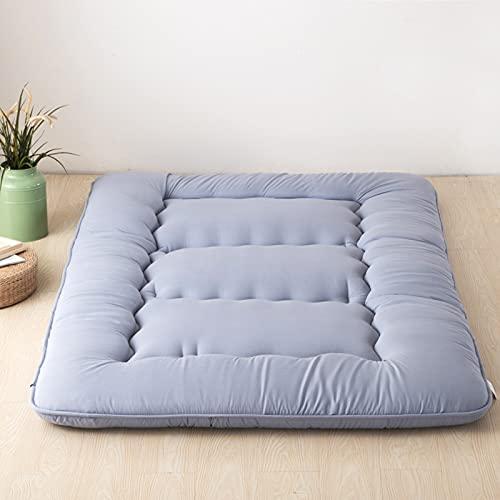Colchón de futón Espuma de Memoria Rollo de Cama Plegable Silla de salón para Acampar Sofá Funda de cojín Tatami Grueso Doble Cama de Invitados Alfombra de Piso tamaño King japonés,Gris,35.4×78.7×4in