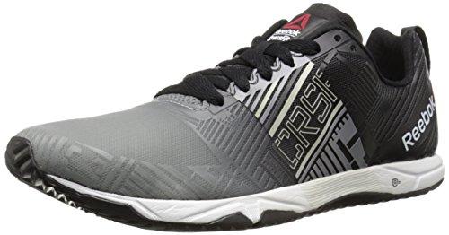 Reebok Men's R Crossfit Sprint 2.0 SBL Training Shoe, Flat Grey/Black/Steel/White, 8 M US