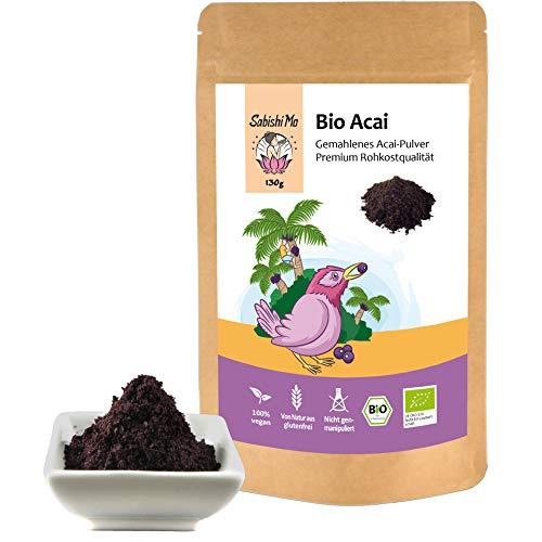 Acai Pulver Bio 130g - Gefriergetrocknet. 100% aus Bolivien (kontrolliert und abgefüllt in Berlin)...