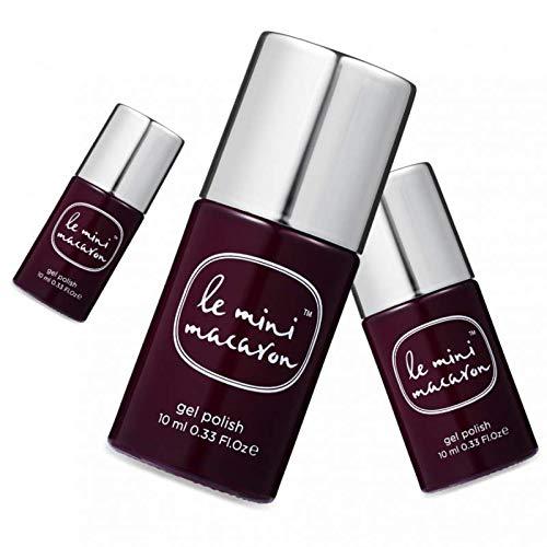 Le Mini Macaron • Vernis à Ongles UV 3 en 1 • Nail Gel Semi-Permanent • Séchage LED • Chocolat Cherry Couleur Marron Foncé Cerise • 10ml
