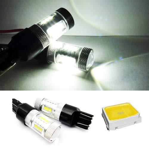 2 x Blanc 582 W21 W 580 W21/5 W ampoule LED Samsung veilleuses côté Indicateur de signal Queue Arrêt inversée lumière du jour DRL