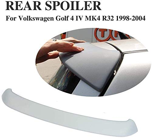 XBXDM Alerón Trasero del Coche Negro, para Volkswagen VW Golf 4 IV Mk4 R32 1998-2004 ala del Maletero del Maletero, Borde De Extensión del Techo Modificado Abs Universal