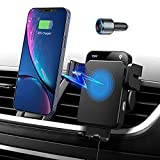 Wireless Car Charger Mount, Auto Clamping Fast Charging Car Mount, Air Vent Phone Holder with QC 3.0 Adapter Compatible with iPhone 13/13 Pro/12 Pro/12/11 Series, Samsung S20/Note20 and More