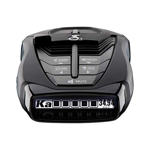 Cobra RAD 480i Laser Radar Detector – Long Range Detection, Bluetooth, iRadar App, LaserEye Front and Rear Detection, Next Gen IVT Filtering, Black (Renewed)