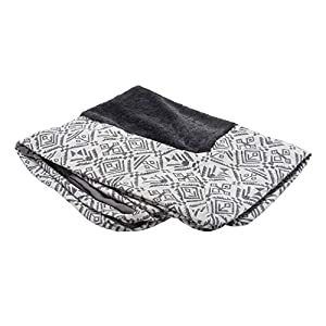 Furhaven Pet Dog Bed Cover – Plush Kilim Traditional Sofa-Style Living Room Couch Pet Bed Replacement Cover for Dogs and Cats, Boulder Gray, Jumbo Plus