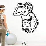 yaonuli Etiqueta del Club de Fitness Etiqueta de la Pared de Vinilo Ejercicio físico para Encontrar la Etiqueta 50X58cm