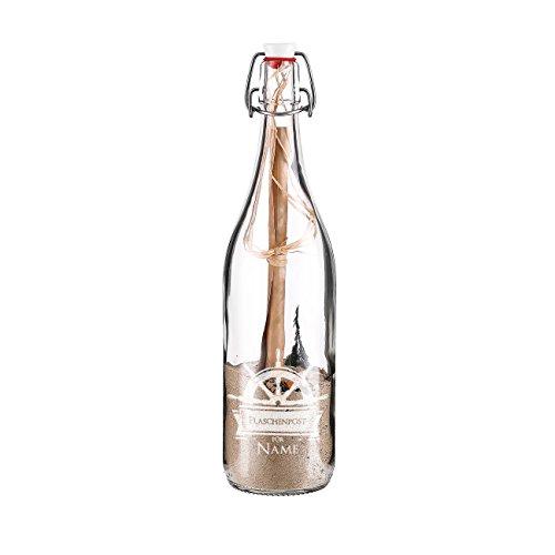 Herz & Heim® Flaschenpost mit Füllung mit Gratis Gravur