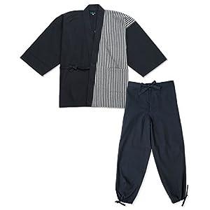 wasuian Men's Samue Working Cloth Cotton Shijira