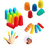 32 Pieces Rubber Finger Tips, Silicone Finger Protectors Non-Slip Finger Cover Assorted Si...