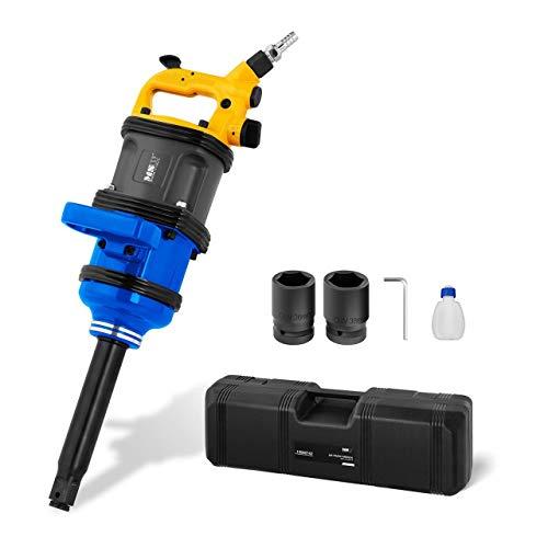 MSW Druckluftschlagschrauber Schlagschrauber MSW-ATW3800-36 (Drehmoment: 3.800 Nm, Drehzahl: 2.300 U/min, Arbeitsdruck: 6,3 bar, 3 Leistungsstufen pro Drehrichtung, für LKW, Bus, Traktor)