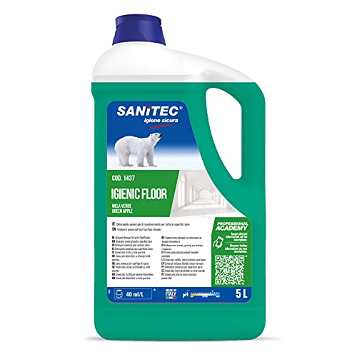 Sanitec Igienic Floor Detergente Pavimenti, 5 kg - Mela Verde e Bacche