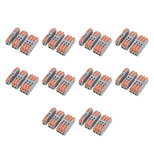 30Pcs Conector de cable de bloque de terminales rápido Juego de divisores de cableado de tipo push SPL-P1/P2/P3