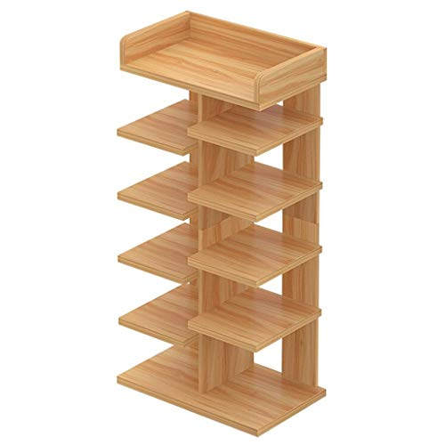 Zapatera Rack de almacenamiento de múltiples capas for el hogar Rack de almacenamiento de rack de zapatos Entrada de gabinete de zapatos Rack de zapatos vertical Almacenamiento de múltiples funciones