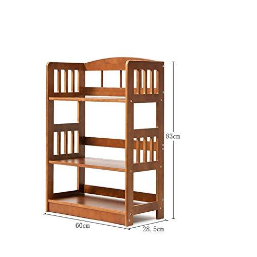 PNYGJU Praktisch boekenrek, natuurlijk eenvoudig bamboeboeboekenrek, vloerstaande combinatie van verdikt boekenrek, waterdicht opbergrek voor plantentuin, woonkamer