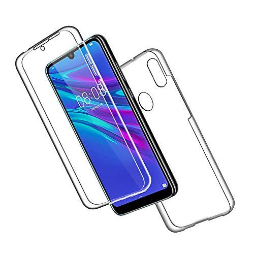 SDTEK Schutzhülle für Huawei Y6s / Y6 (2019) Vorne & Hinten Schutzhülle 360° Full Body Cover Soft Hülle Hülle [Silicone TPU] Cover [Bumper]