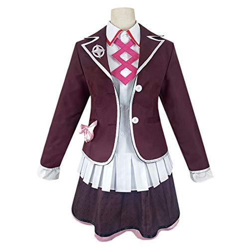 YYFS Uniforme Animado Estudiante Cosplay Traje de Halloween Parte Escudo Falda y Camisa,Clothing Suit-L