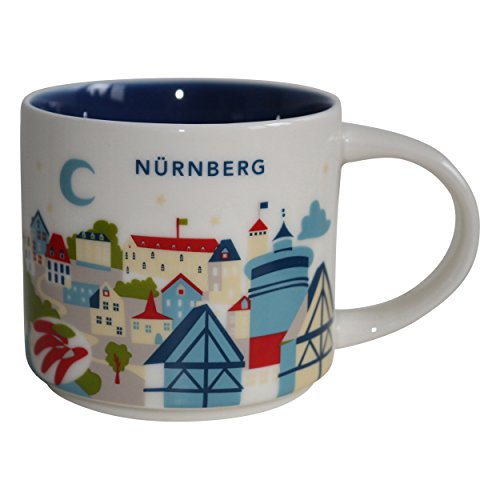Starbucks City Mug You Are Here (YAH) Collcetion Nürnberg Deutschland Coffee Kaffeetasse (weiß, blau)