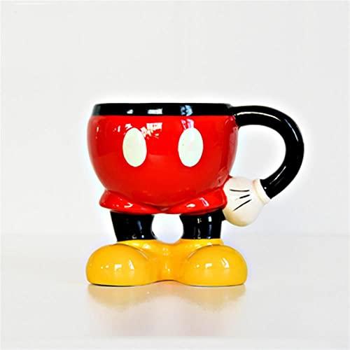 Café Cerámica Desayuno Regalos Taza De Mickey Mouse De Disney, Taza De Cerámica Para Agua De Minnie, Taza De Dibujos Animados Para Pareja, Bonita Taza De Viaje Con Empuñadura De Cerámica Ecológica