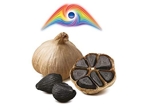 Hymor Schwarzer Knoblauch - 2 Knollen - 90 Tage fermentiert aus Las Pedroñeras aus bestem lila Knoblauch, Spanien, ungeschält, Black Garlic schwarz Knoblauch Ajo Negro 100% natürlich