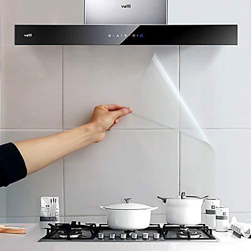 Chingde Selbstklebend Folie Transparent, Ölfester Wandaufkleber Küche klebefolie Transparent Tapete wasserdichte Tapete für Schrank, Möbel, Tische, (40x300CM)