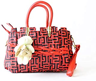Lenz Top Handle Bag For Women - Red, aM19-B072