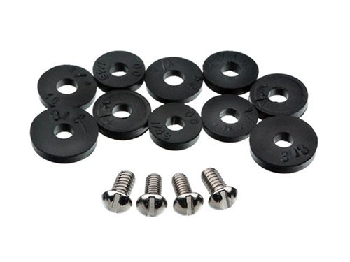 Danco 80790 Flat Washer Assortment, for Use with Quick-Opening Style Faucets, Black