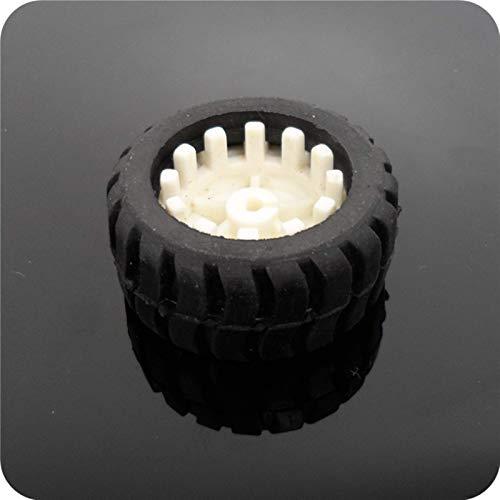 LIZONGFQ Neumático de Goma de 4 Uds 42mm / Ruedas del Eje D / neumáticos de Rueda de Motor N20 neumático Adecuado para Coches de Juguete RC Piezas de Repuesto para Drones