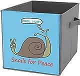 Cubos de almacenamiento plegables | Caja de almacenamiento cuadrada plegable, cesta organizadora duradera, caracol
