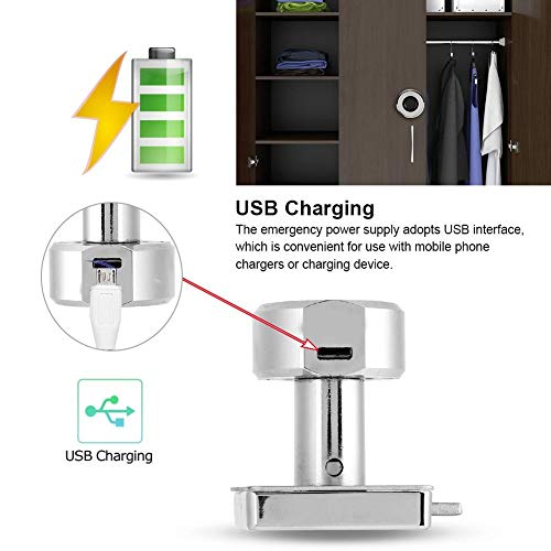 Tosuny Smart Fingerprint Security Padlock,Portable Anti-Theft USB Keyless Lock for Wardrobes,Drawers,Shoe Cabinets,Office Cabinets.