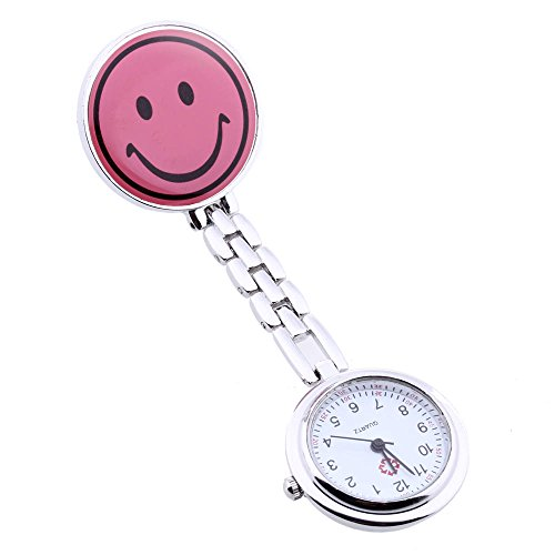 Reloj Cuarzo Clip pa Enfermera Doctor portátil Smiley