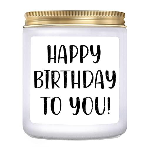 KLL Happy Birthday Gifts for Women, Men, Mom- Birthday Candles, Best Friend Birthday Gifts for Her, Birthday Gifts for Him, Lavender Candle (7oz)